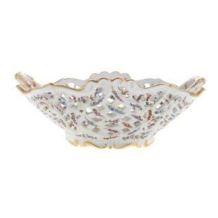 Meissen Porcelain Reticulated Berry Basket