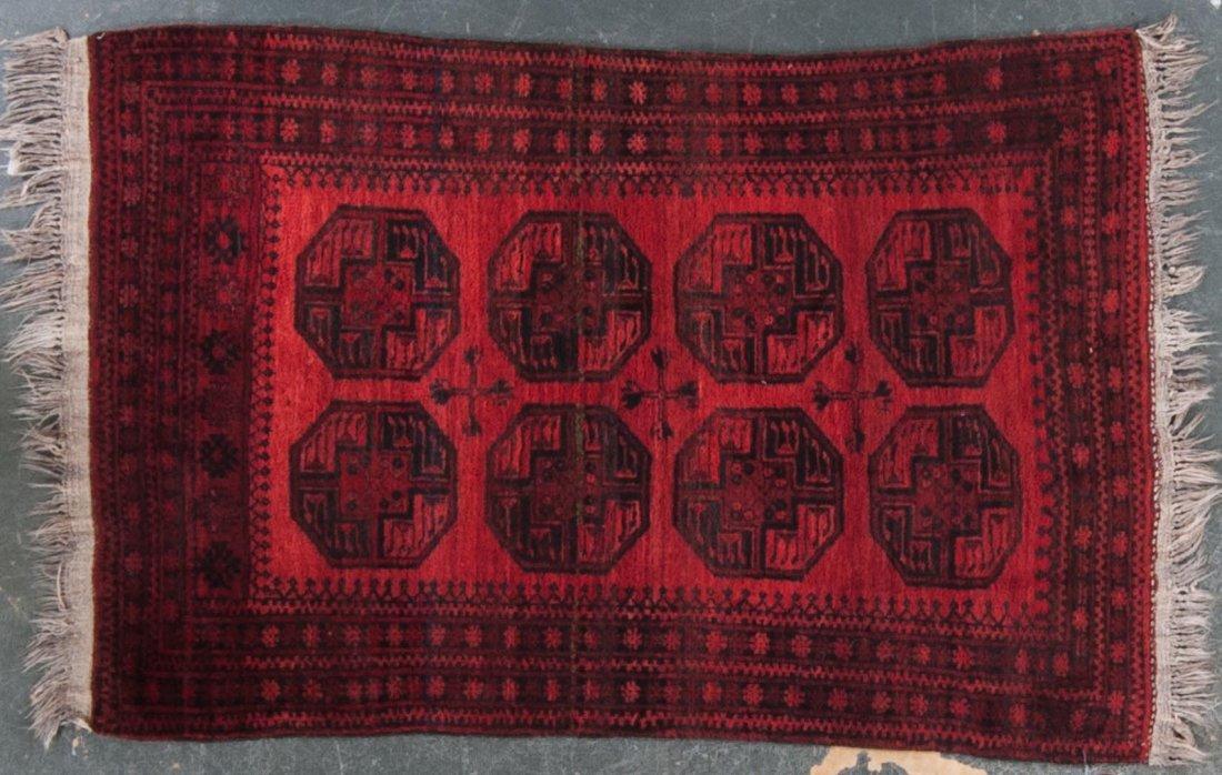Semi-antique Afghan Bohkara rug, approx. 4.1 x 6.2