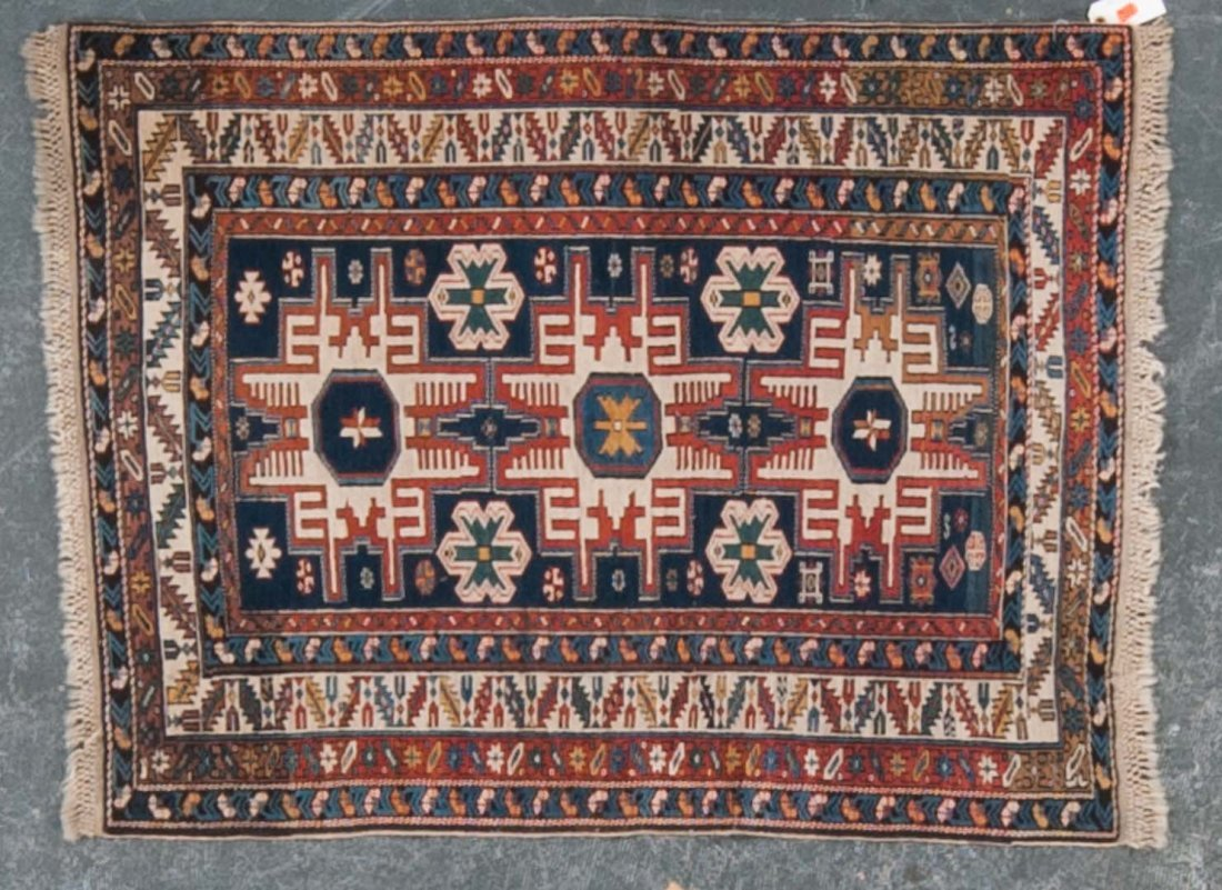 Antique Lesghi Star Shirvan rug, approx. 3 x 4