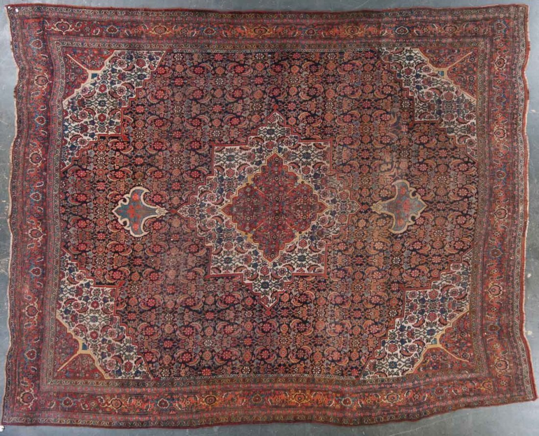 Antique Bijar carpet, approx. 11.9 x 14.7