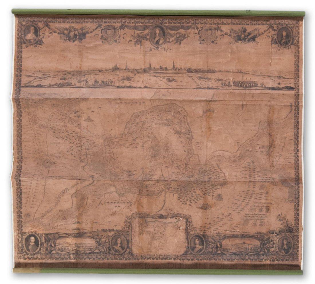 """[Map] """"Le Siege d'Arras"""" Paris, 1654"""