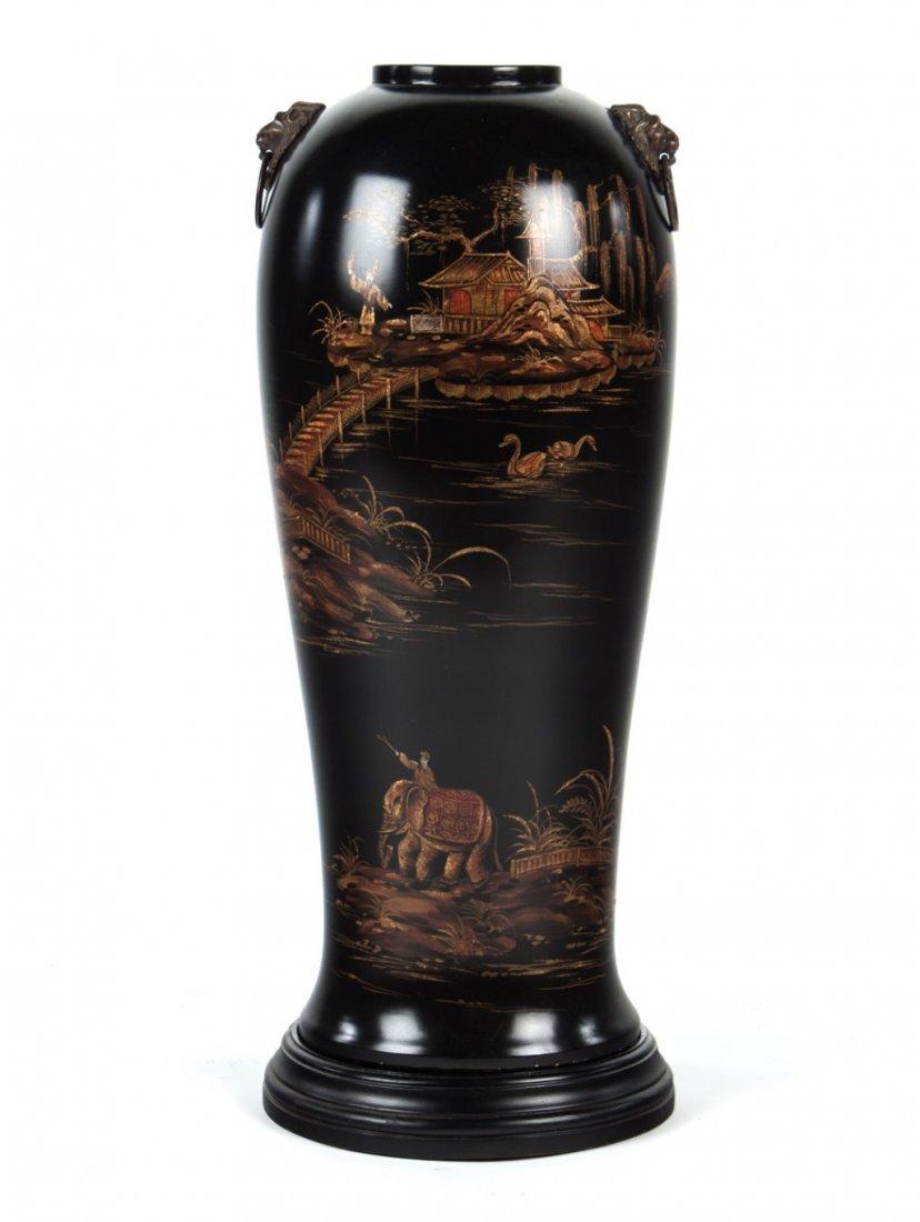 Chinoiserie ceramic vase
