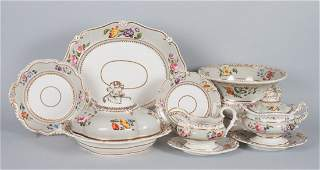 Staffordshire china partial dinner service