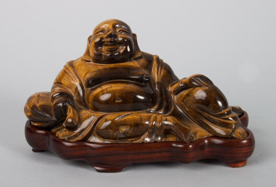 Chinese carved tiger's-eye Hotai
