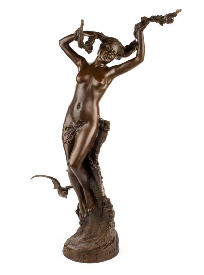 """""""M. Maignan. French bronze figure, """"LaVague,"""""""