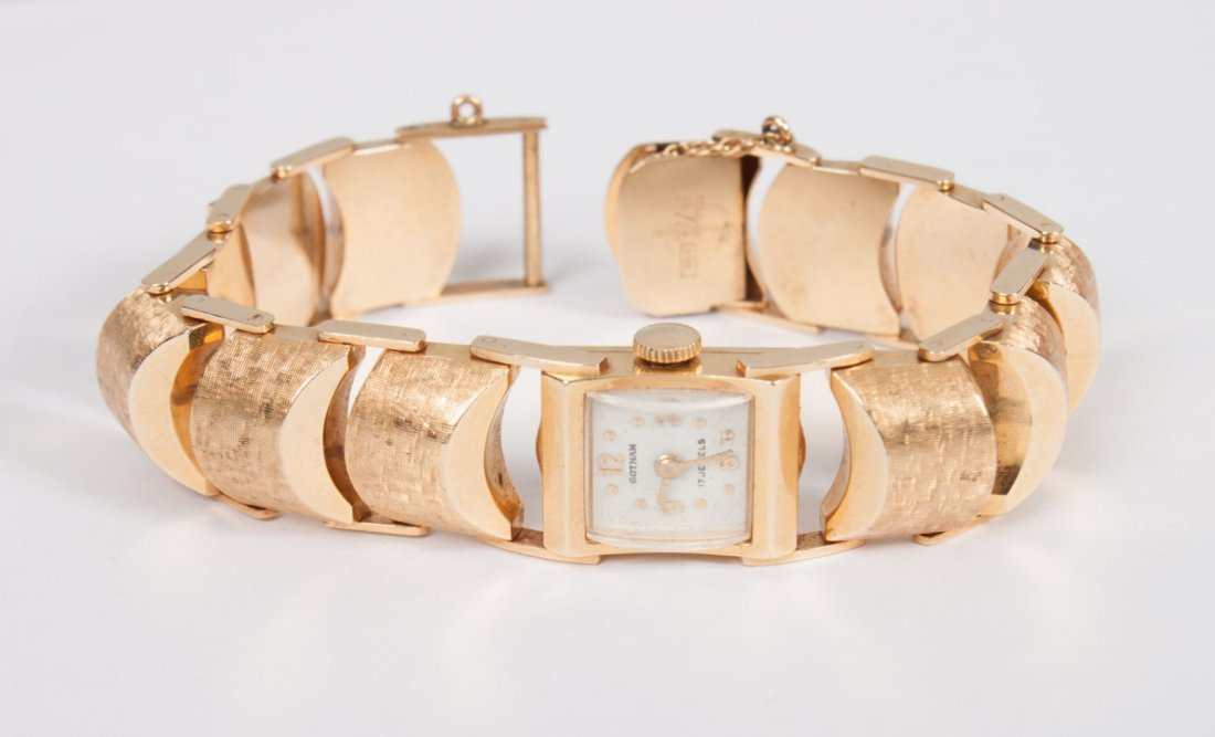 Lady's Gotham 14K yellow gold wristwatch