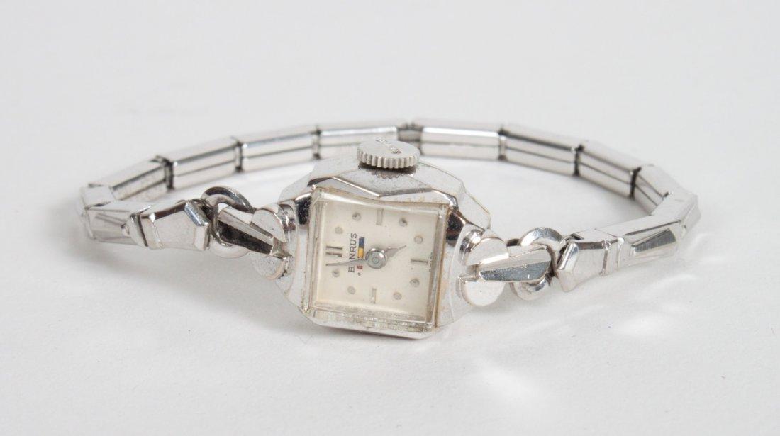 Lady's Benrus 14K white gold wrist watch