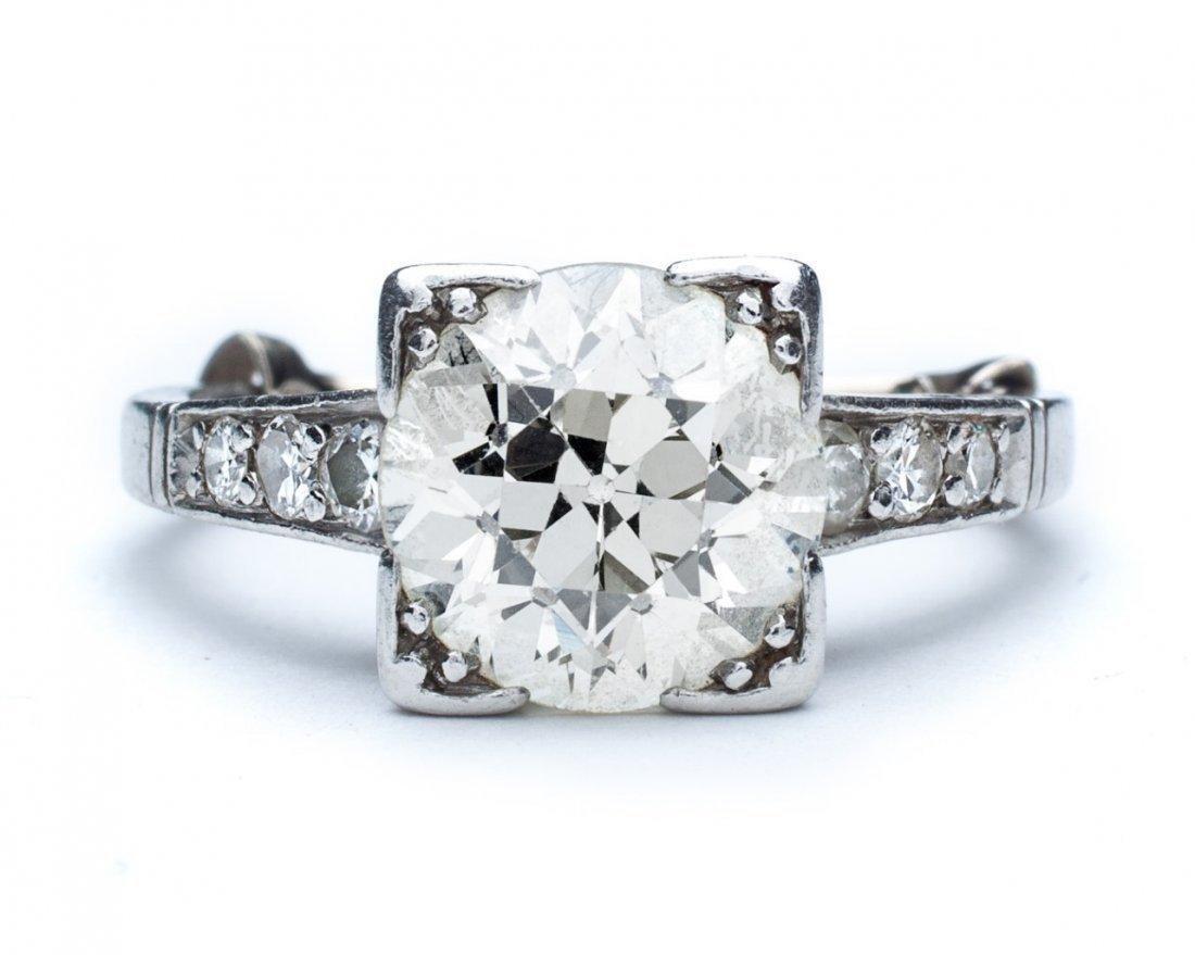 Lady's platinum and diamond engagement ring