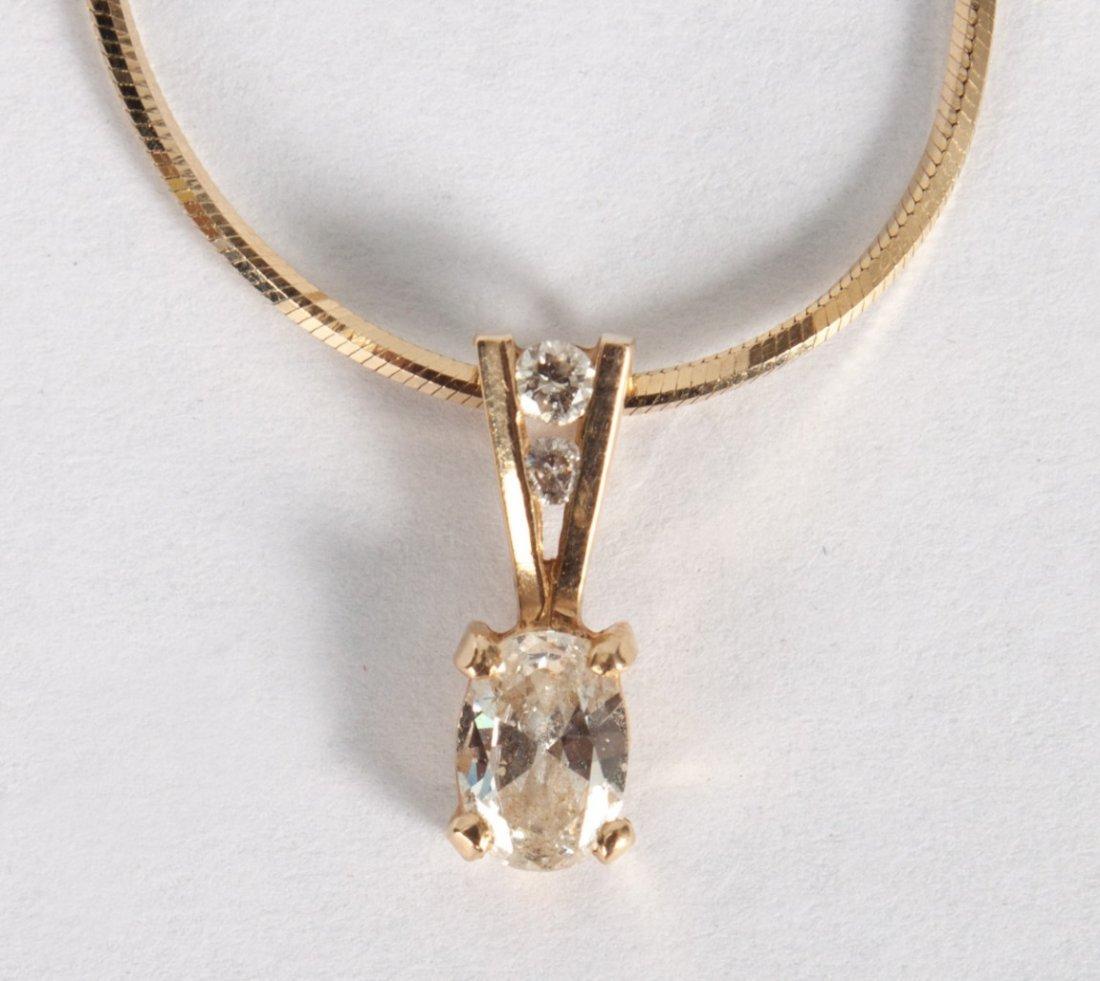 Lady's 14K gold & diamond necklace