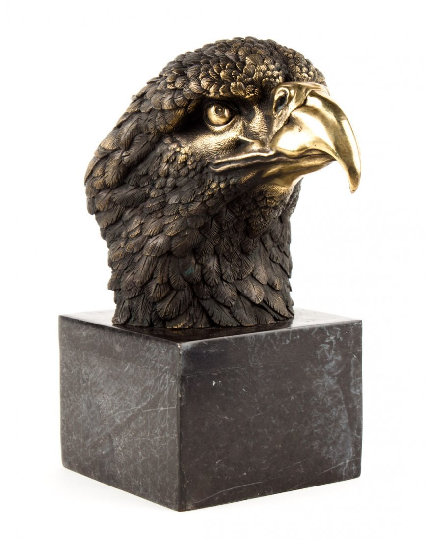 Contemporary bronze eagle head