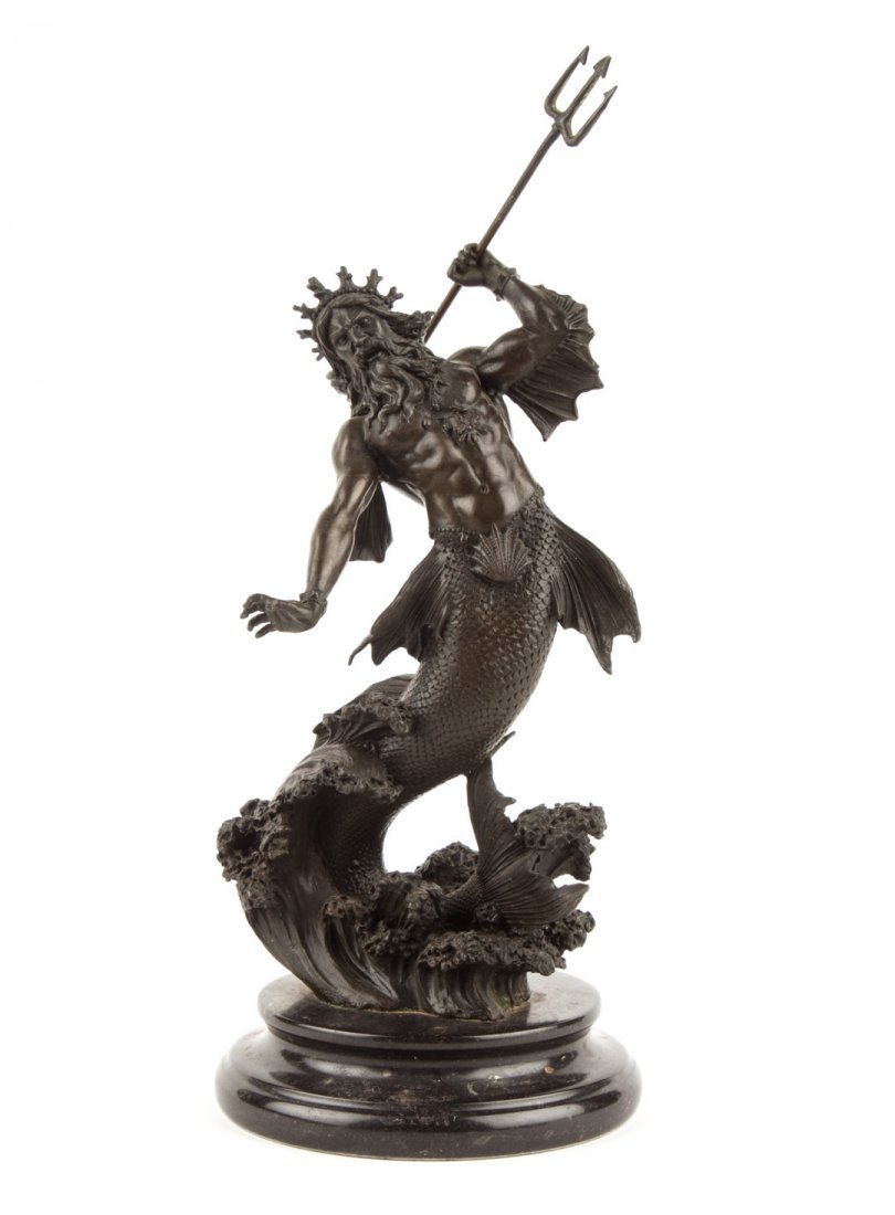 Contemporary bronze statue of King Neptune