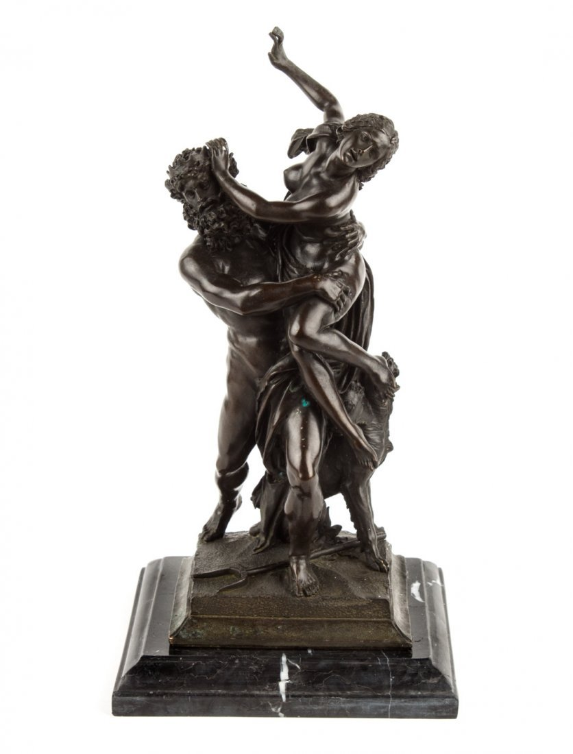 "Contemporary bronze group: ""Rape of Persephone"""