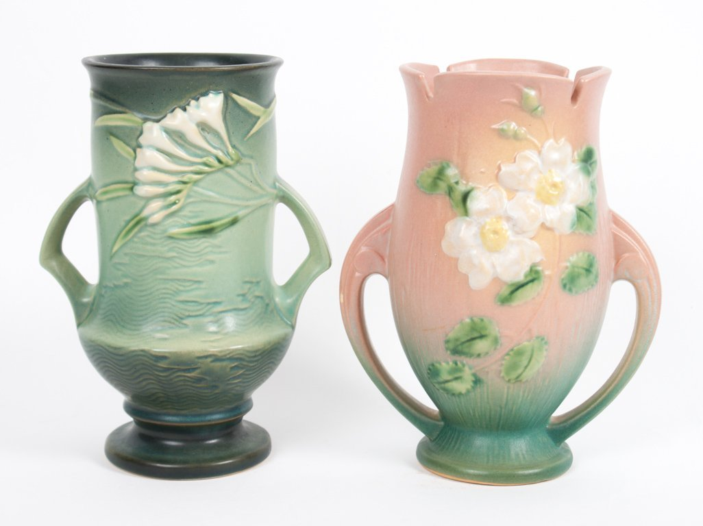 Two Roseville art pottery vases