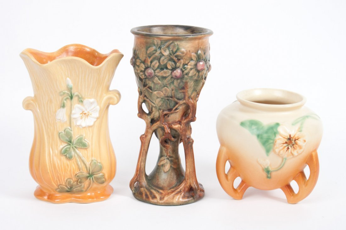 Three Weller art pottery articles