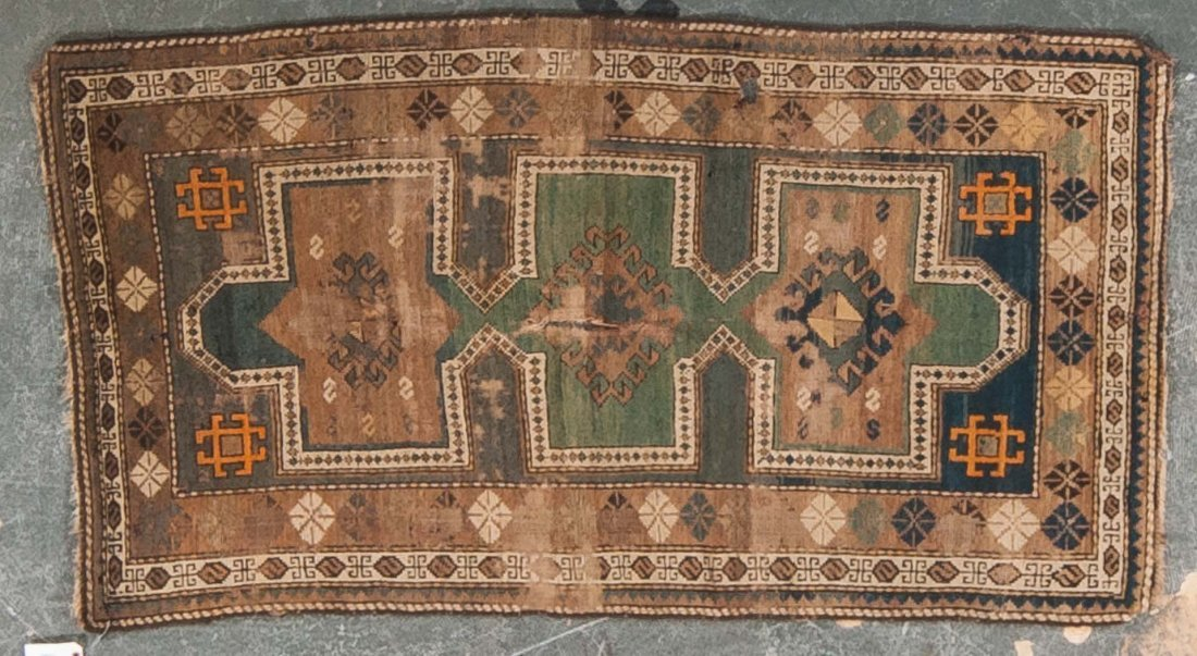 Antique Kazak rug, approx. 3 x 5.3
