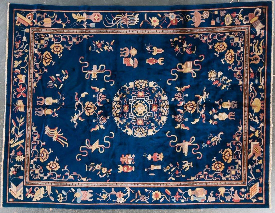 Antique Nichols Chinese carpet, approx. 9 x 12
