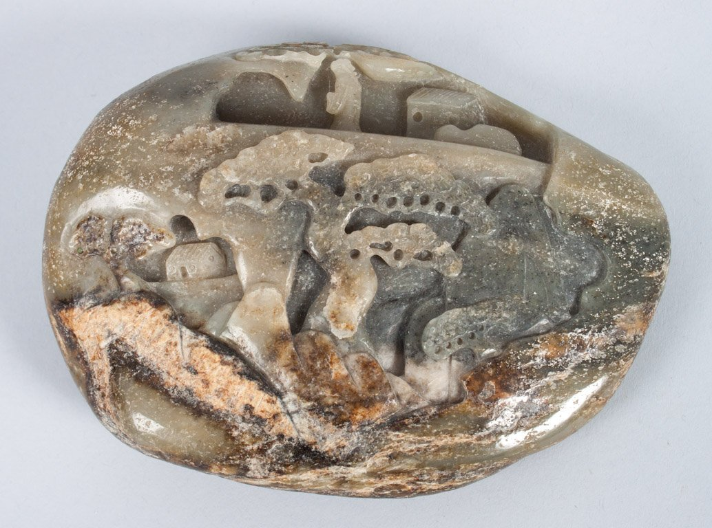 Chinese carved hardstone scholar's object