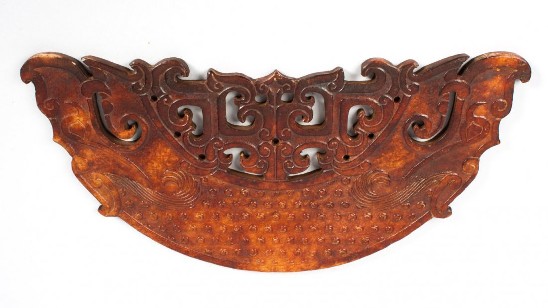 Chinese carved hardstone pi