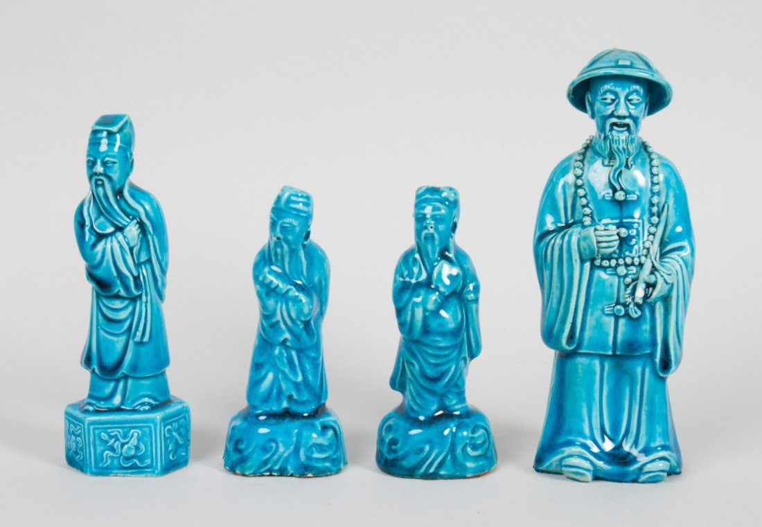 4 Chinese Export porcelain figures