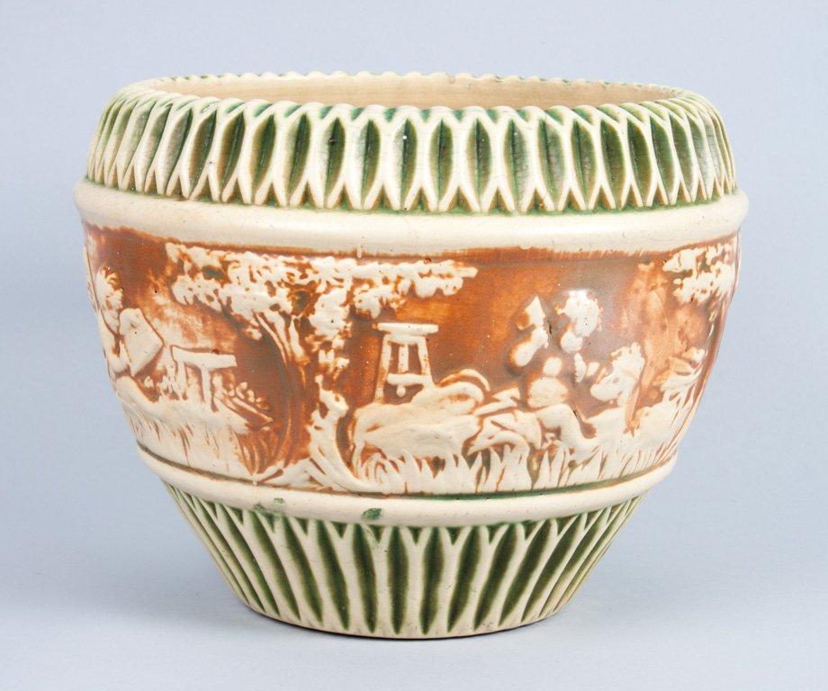 """Roseville pottery """"Donatello"""" jardiniere"""