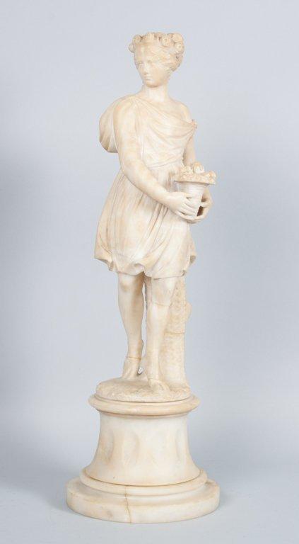 Italian alabaster classical style figure