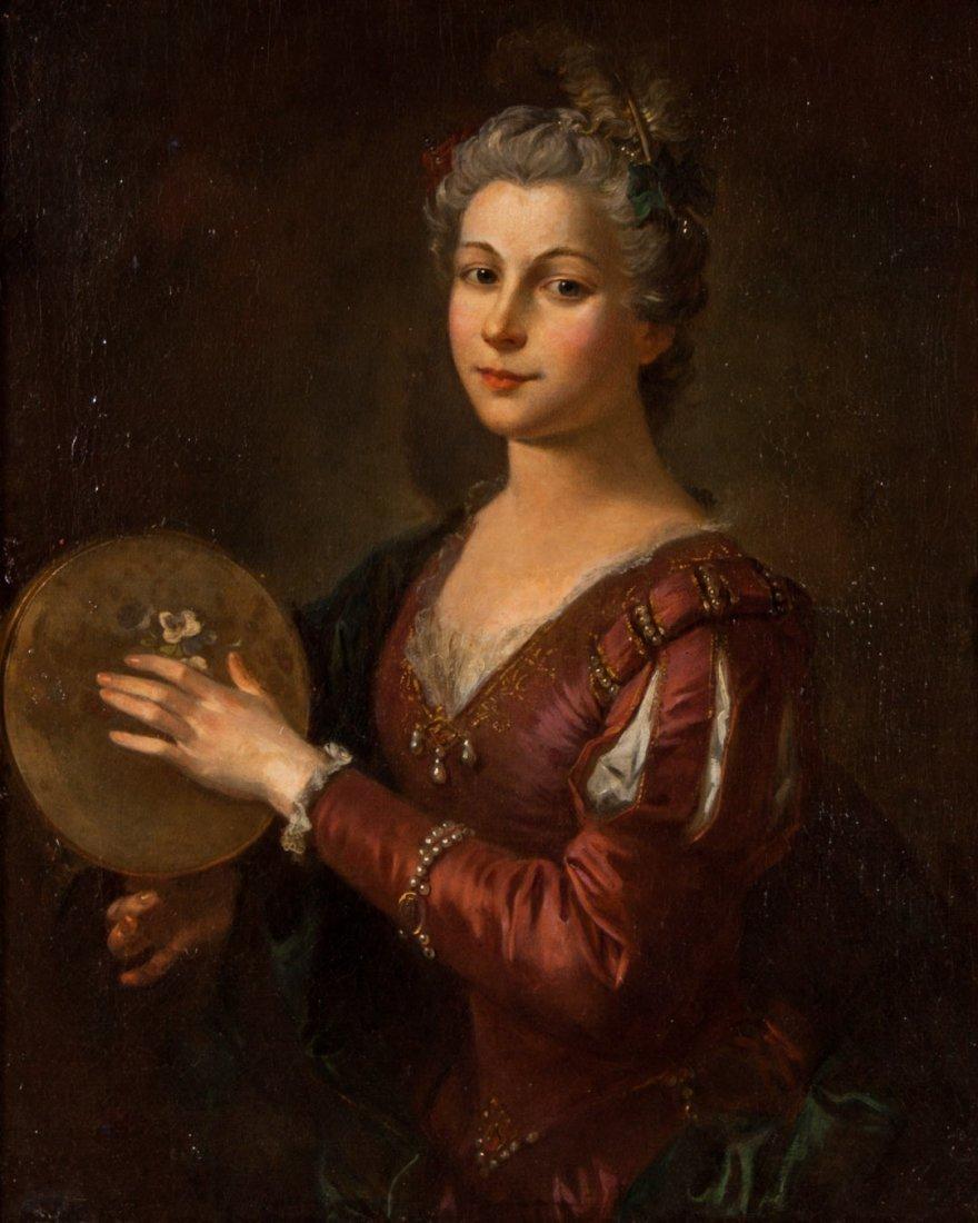 French School, 18th c. Portrait of a Lady, oil