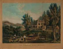 "Currier & Ives ""The Farmer's Home-Autumn"""