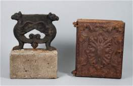 Victorian cast iron boot scrape  wall safe