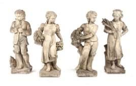 Victorian cast stone four season figures