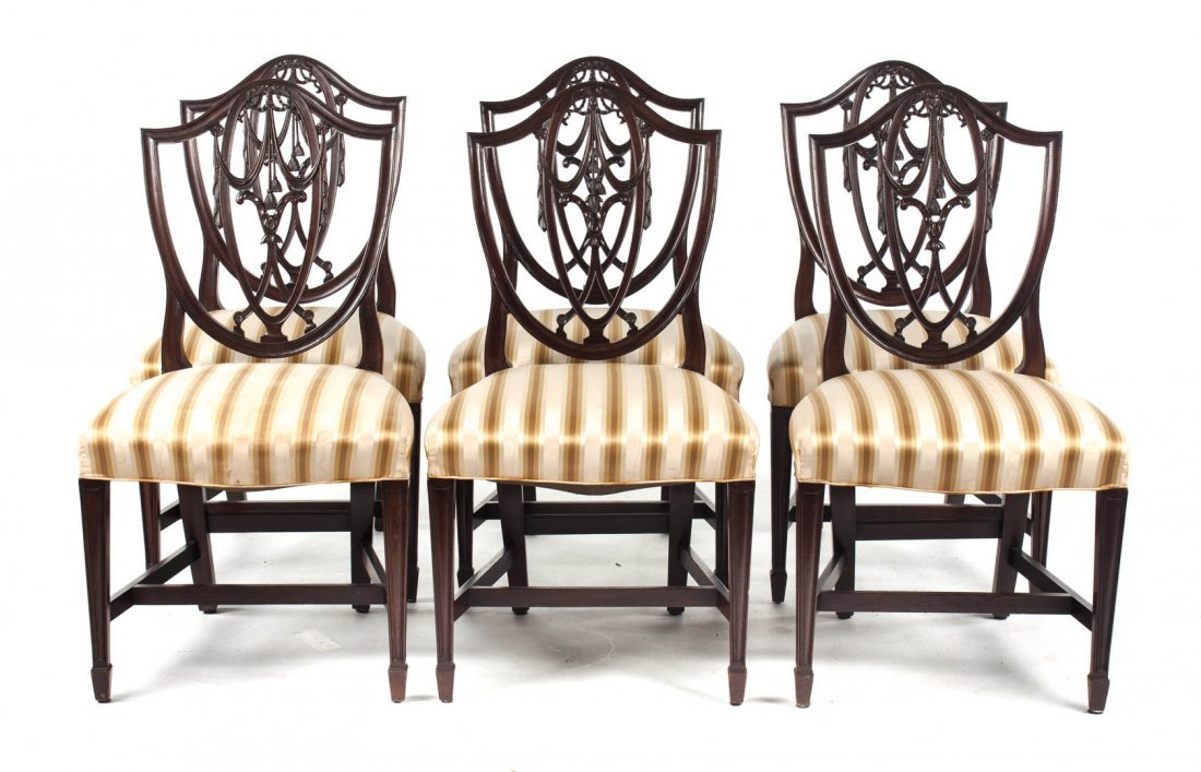 Six Potthast Bros. Federal Style Dining Chairs
