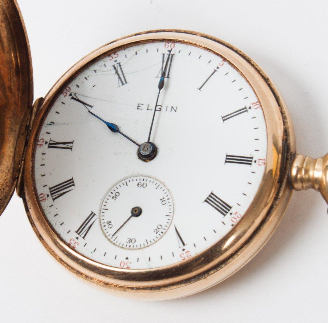 Lady's Elgin 14K gold hunting case pocket watch