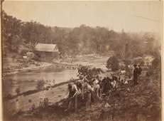 Photograph: Pontoon Bridge at Jericho Mills
