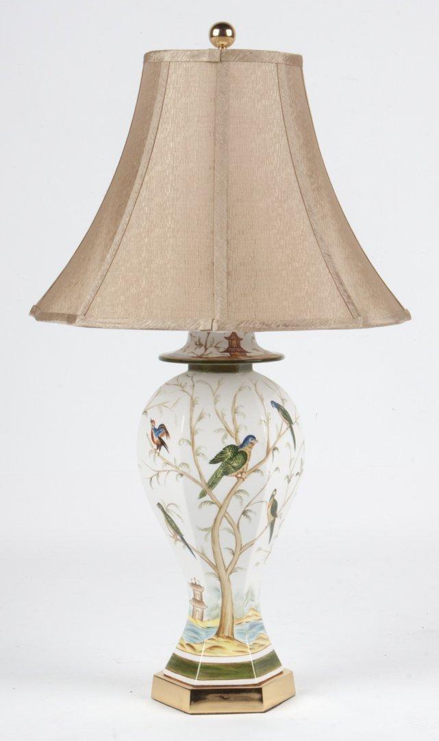 Chinese Export style ceramic lamp