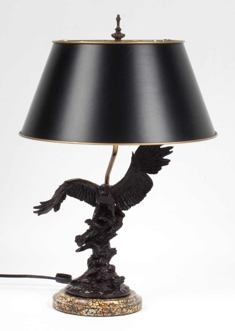 Contemporary eagle figural lamp