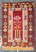 Semi-antique Turkish Kelim Prayer rug