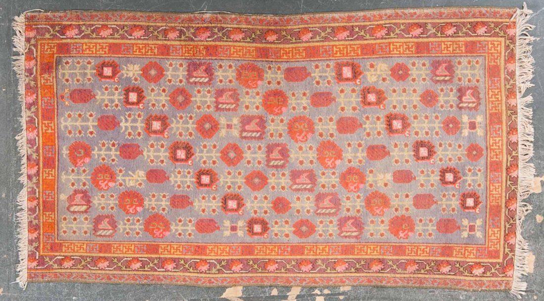 Antique Khotan rug, approx. 4.4 x 7.5