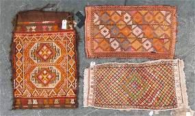 Three antique Turkish Soumak rugs