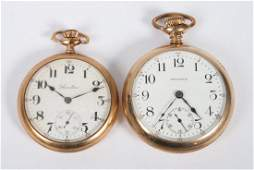 Two goldfilled openface pocket watches
