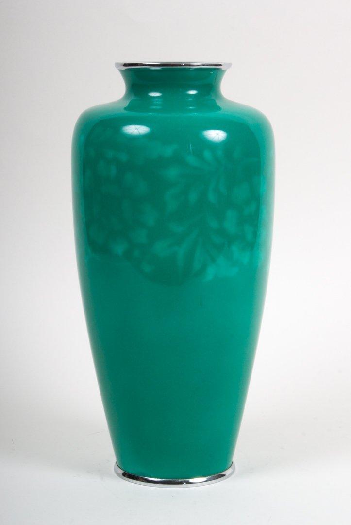 Japanese cloisonne enamel vase