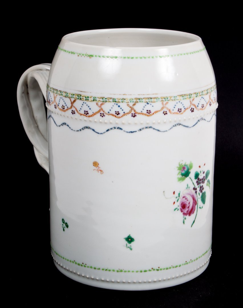 Chinese Export Famille Rose porcelain cann