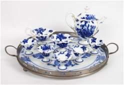 Royal Worcester eightpiece china tea set