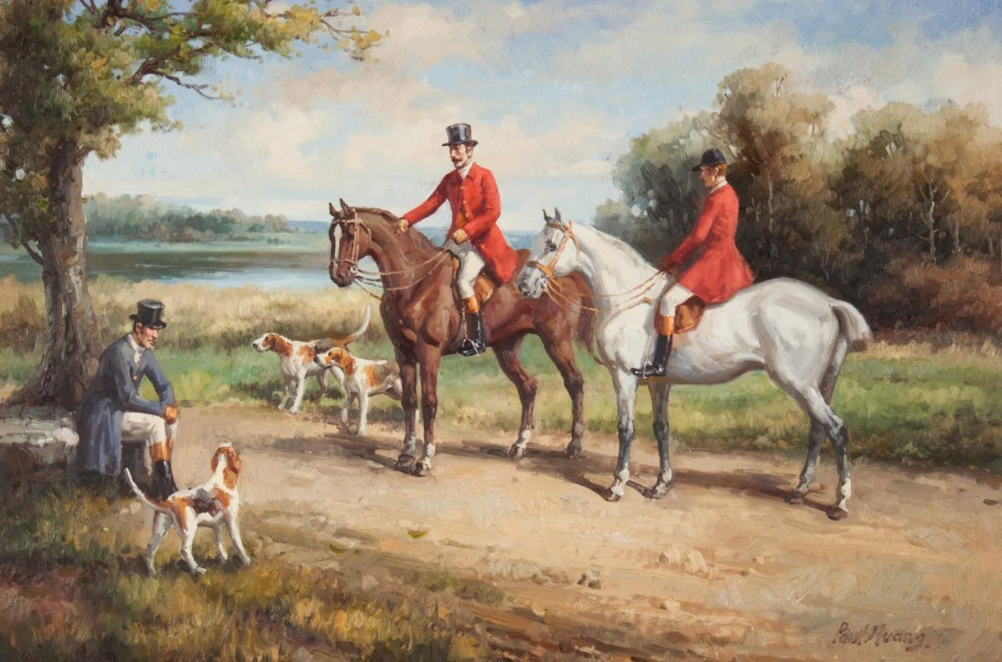 Paul Huang. Before the Hunt, oil on canvas