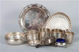 Eleven American sterling silver table articles