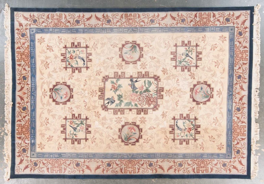 Chinese 120-line carpet, approx. 10 x 14