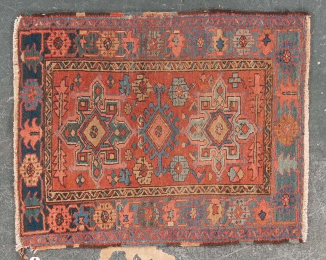 Antique Karaja rug, approx. 3.4 x 4