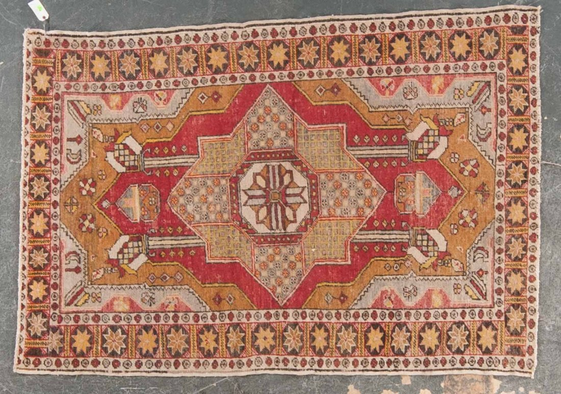 Antique Anatolian rug, approx. 4.3 x 6.3