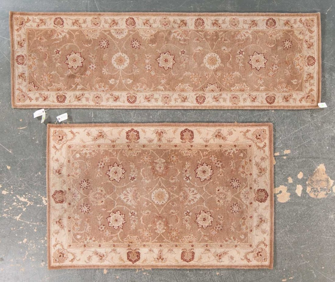 Two Tufted Persian design rugs, China, modern
