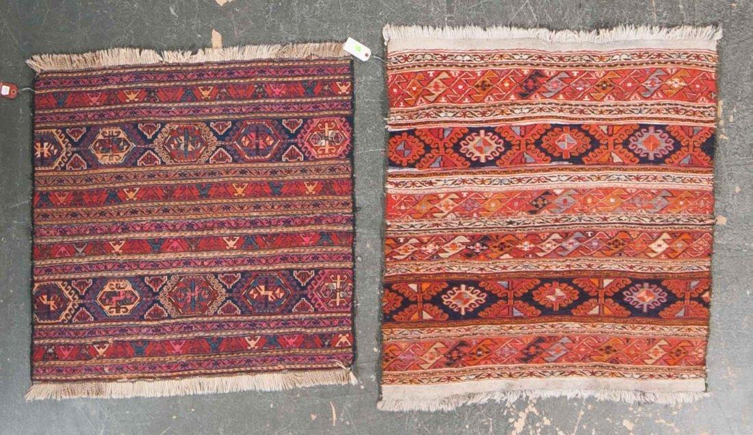 Two Soumak scatter rugs, Iran, circa 1960