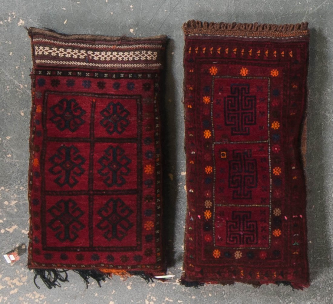 Two Afghani Belouch stuffed pillows