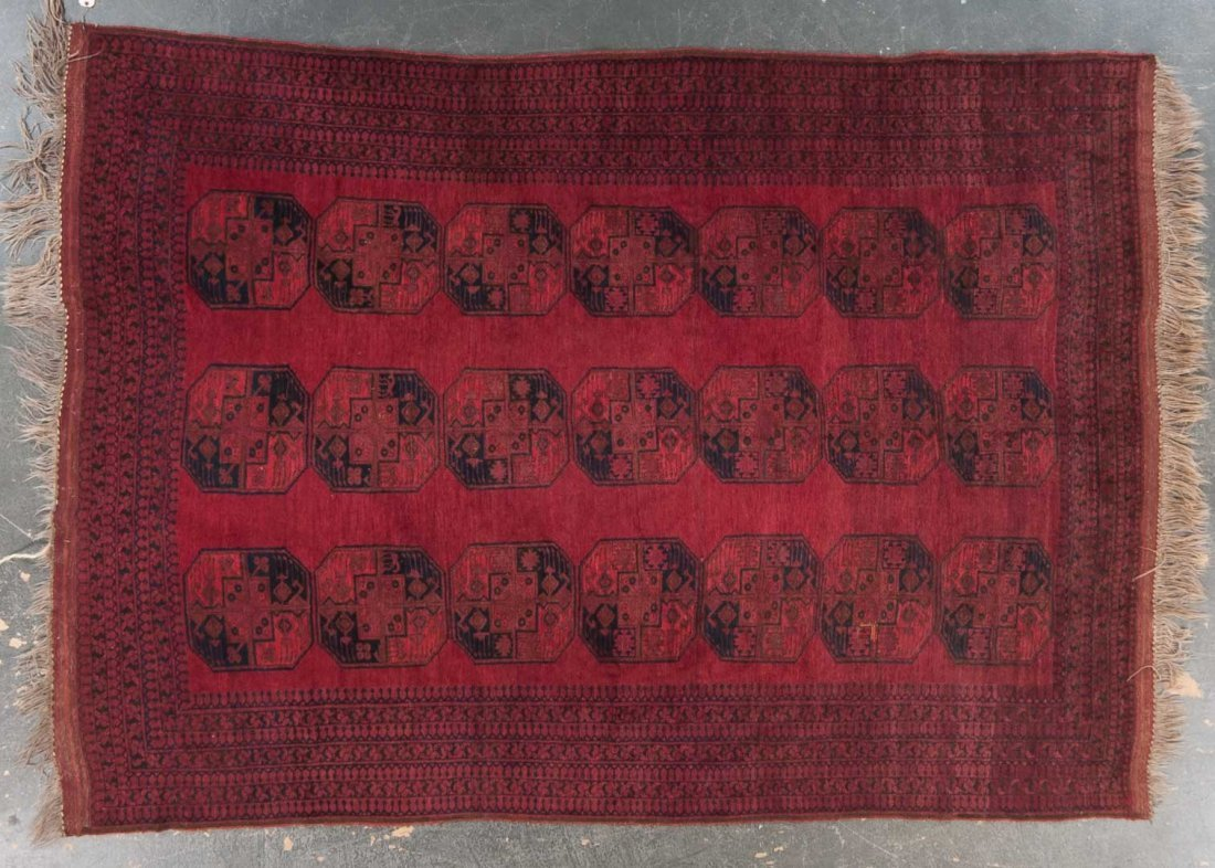 Afghan Bohkara carpet, approx. 7.9 x 10.10